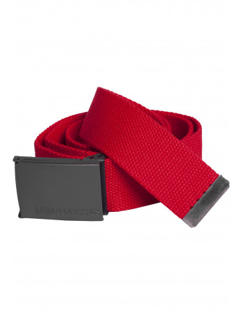 Red Canvas Belt by Urban Classics