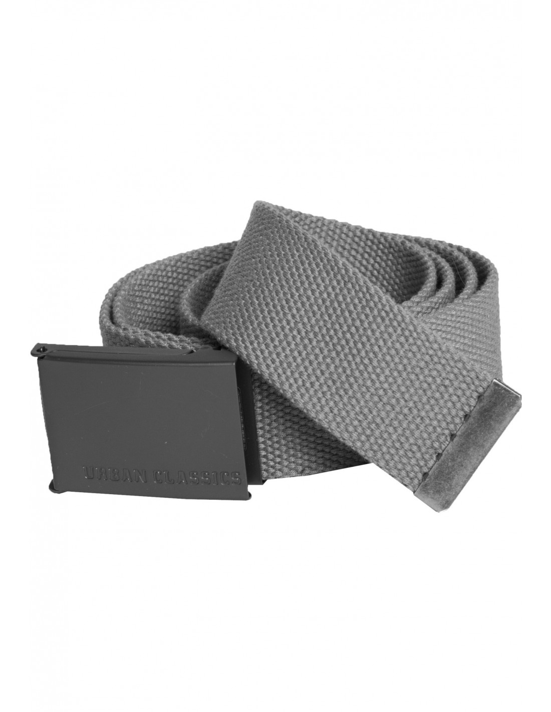 Grey Canvas Belt by Urban Classics