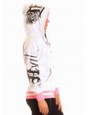 BSAT Rose Art Logo Hoodie White