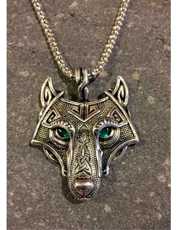 Vikings Jewelry, Necklace Wolf