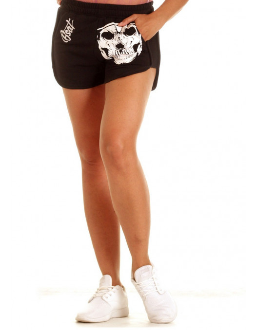 BSAT Cali Skull Shorts BlackNWhite