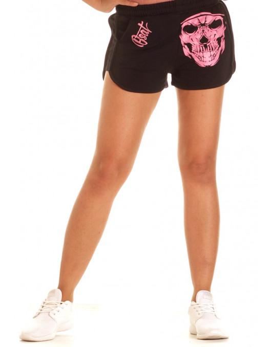 BSAT Cali Skull Shorts BlackNPink