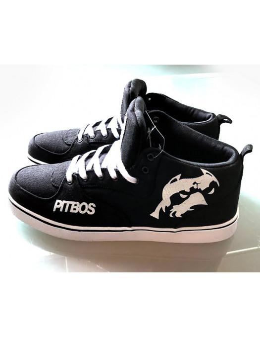 BrandDogLogo Shoes by Pitbos BlackNWhite