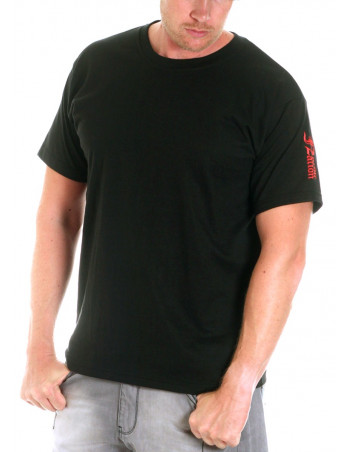 Premium Cotton Logo T-Shirt BlackNRed by Nordic Nation