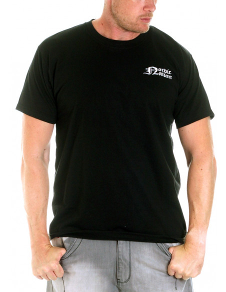 Premium Cotton Logo T-Shirt BlackNWhite by Nordic Nation