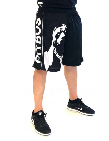 Pitbos Shorts Dog Logo White