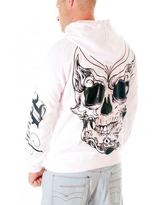 BSAT Joker Skull Hoodie White