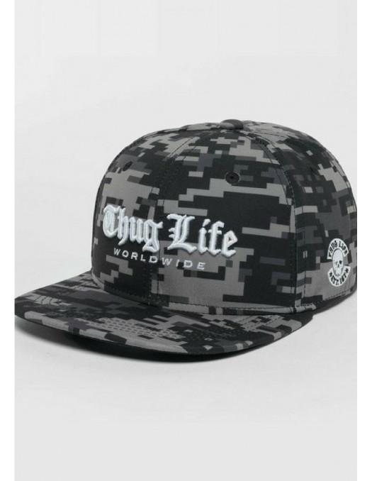 Thug Life Camo Snapback Cap