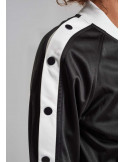 Button Up Track Jacket BlackNWhite