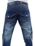 Brooklyn Mint Cargo Patrol Combat Jeans Blue Stone Washed