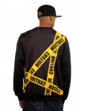Dirty Money Caution Graphic Sweatshirt BlackNYellow