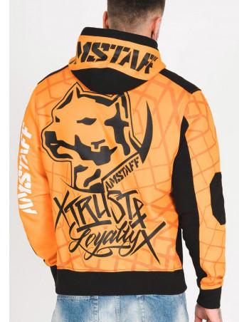 Amstaff Klixx Hoodie OrangeNBlack
