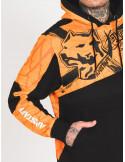 Amstaff Klicks Hoodie OrangeNBlack