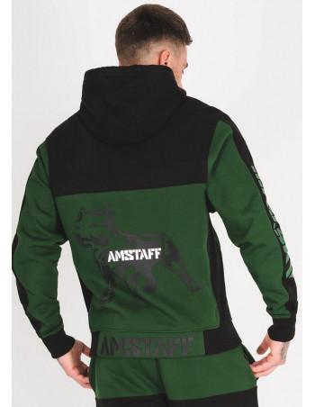Amstaff Dados ZipHoodie GreenNBlack