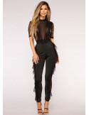 BadGal Lace JumpSuit Black