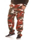 TechWear Camo Cargo Pants Red