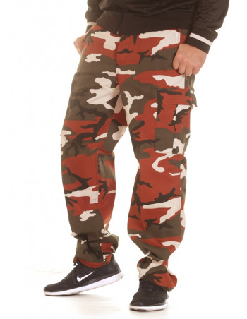 TechWear Camo Cargo Pants Red
