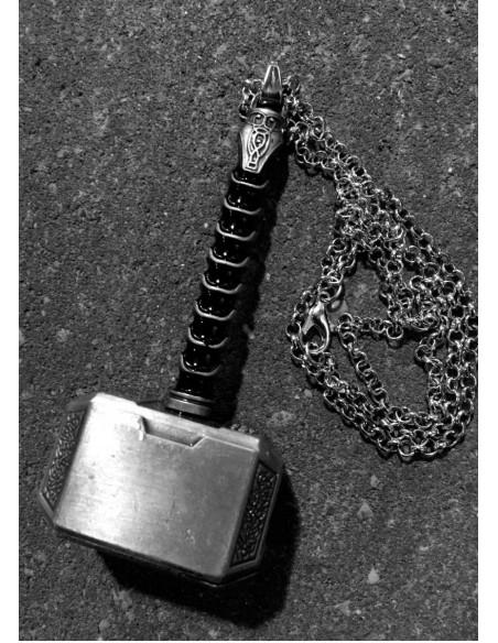 Thors Hammer Necklace metallic Big
