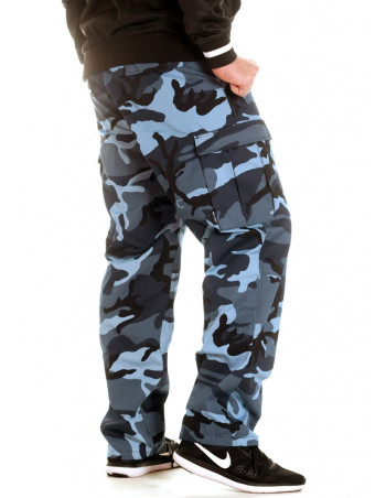TechWear Camo Cargo Pants Blue