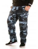 TechWear Camo Cargo Pants Blue