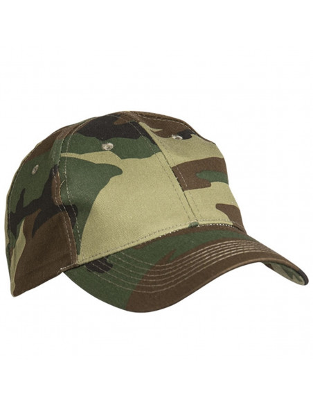 TechWear Camo Baseball Cap Woodland