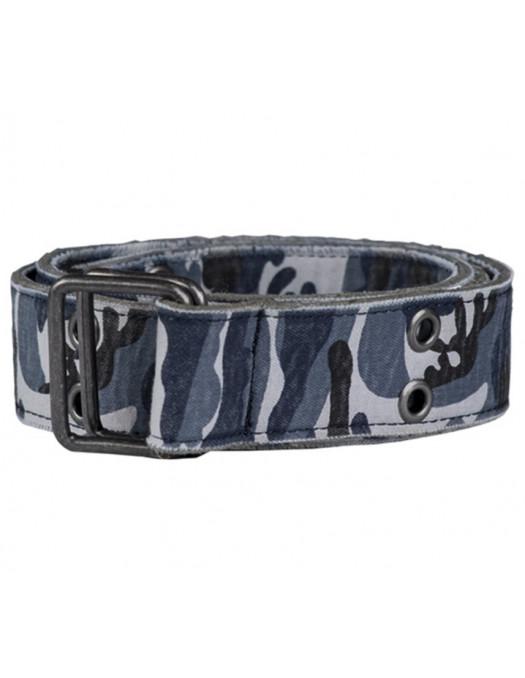 Camo Canvas Belt Blue