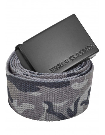 Grey Camo Canvas Belt by Urban Classics