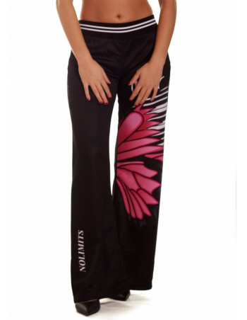 NoLimits Piano Fly Pants BlackNPink