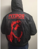 Pitbos Dog Winter Jacket DarkgreyNRed