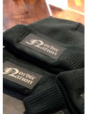 Nordic Nation Knitted Hat BlackNGrey