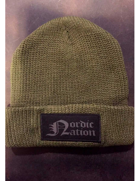 Nordic Nation Knitted Hat OliveNGrey