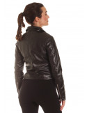 Biker Faux Leather Jacket Black