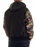BSAT Winter Jacket BlackNCamo Woodland
