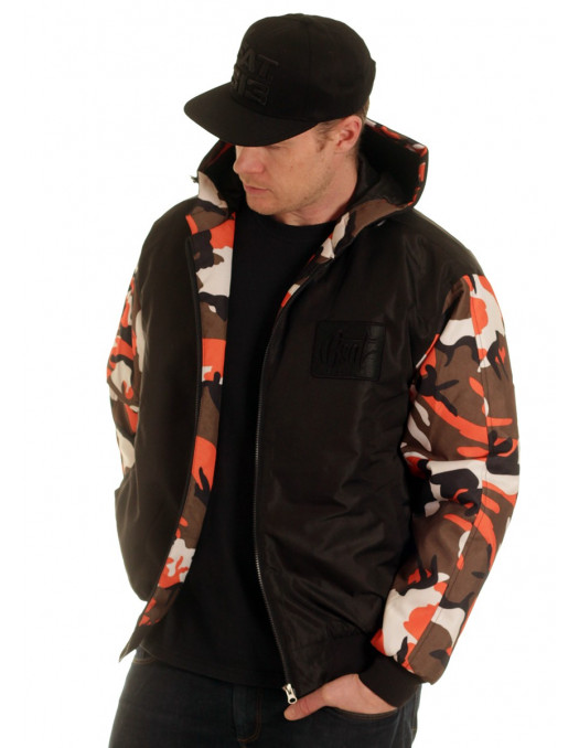 BSAT Winter Jacket BlackNCamo Orange