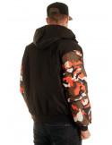 BSAT Winter Jacket BlackNCamo Orange
