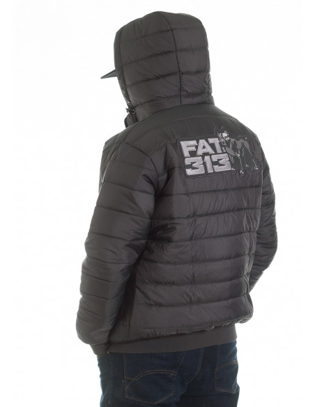 FAT313 Dog Bubble Winter Jacket DarkGrey