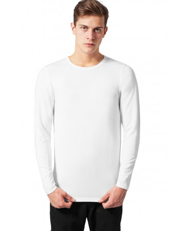 Fitted Stretch L/S Tee White
