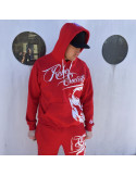 Rebel Society Skull Hoodie Red by BSAT