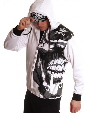 Jaws Skull ZipHoodie by BSAT