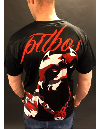Red Camo T-Shirt by Pitbos