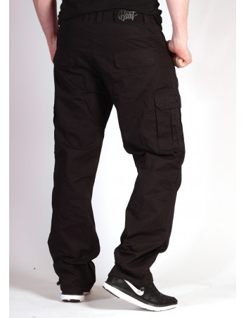 BSAT Regular Fit Combat Cargo Pants Black