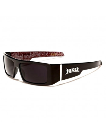 BLack LOCS Sunglasses Paisley Red