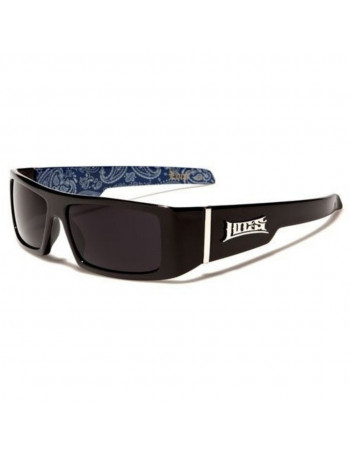 BLack LOCS Sunglasses Paisley Blue