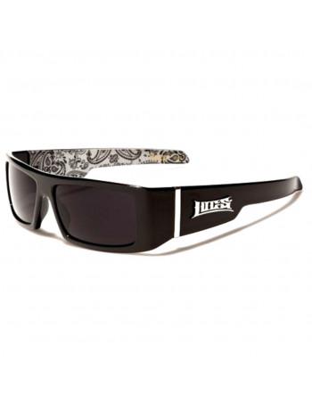 BLack LOCS Sunglasses Paisley White
