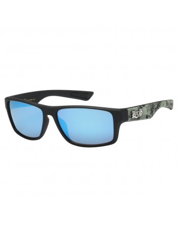Black Digital Camo Sunglasses by LOCS Blue