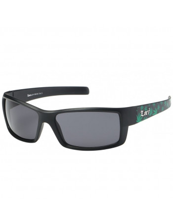 LOCS Sunglasses Black Green Weed vol2