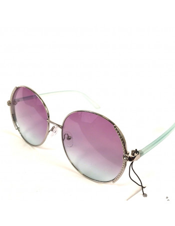 Coloured sunglasses Silver/Green/Purple