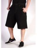 BSAT Black plain denim Shorts