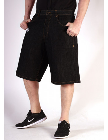 BSAT Black plain denim Shorts