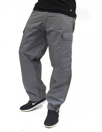 BSAT Combat Cargo Pants Grey Baggy